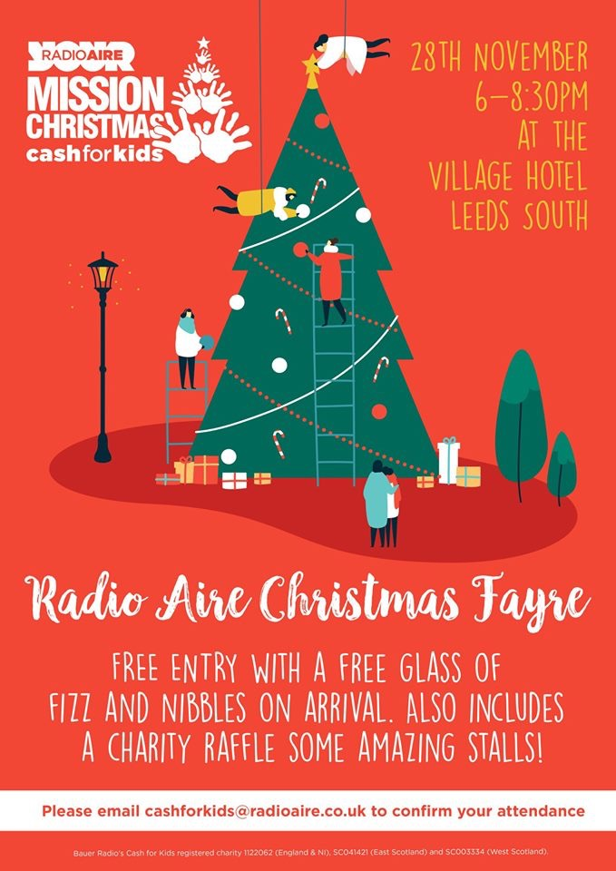 Radio Aire cash for kids Christmas Fayre