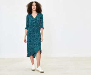 Oasis polka dot dress
